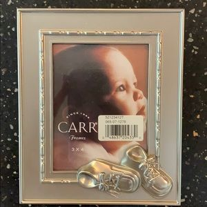 Carr Baby Shoes Brushed Nickel Photo Frame 3x4